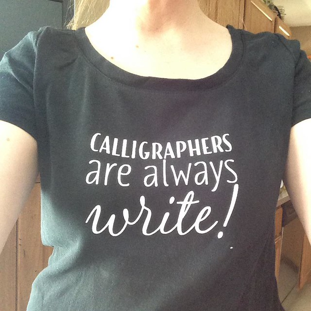 Calligraphers are always write!