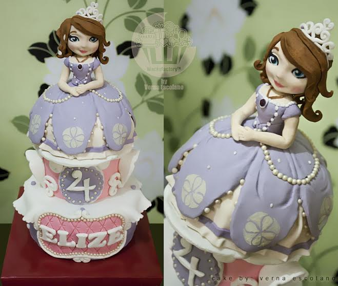 Sophia the first Cake by Verna Escolano