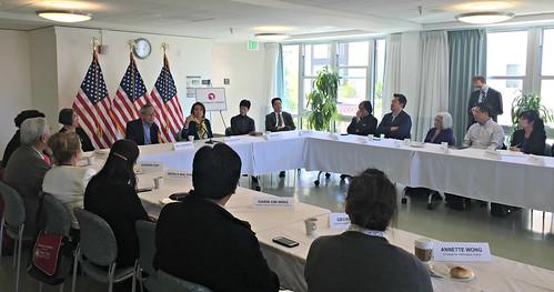 Congresswoman Pelosi holds AAPI Roundtable