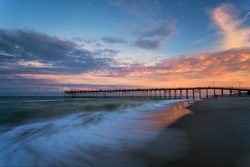 2016 canonef1740f4l coastal copyright2016 fishingpier kurebeach kurebeachfishingpier landscapephotography lee3stopnd leefilters leefoundationkit metabonesivt northcarolina sonya7r2ilce7rm2 sunset travisrhoadsphotography