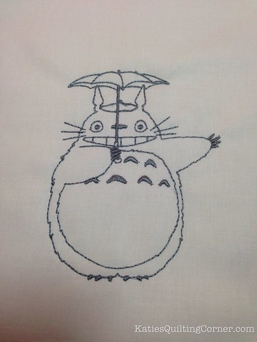 Totoro - Machine Embroidery