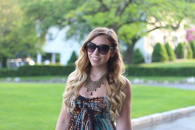 Living After Midnite: Jackie Giardina: Outdoor Party Style: Fashion: markgirl Exotic Maxi Dress