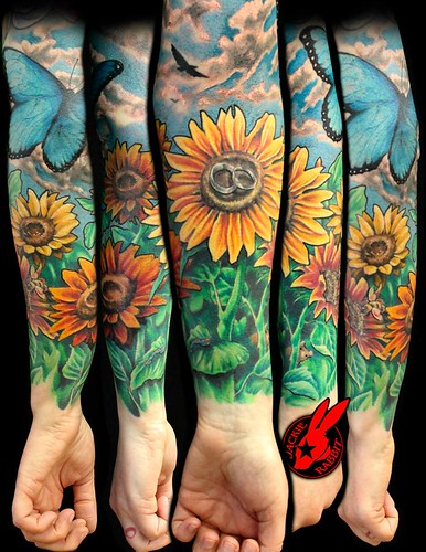 Flickriver jackie rabbit tattoos 39 s most interesting photos for Garden tattoos designs