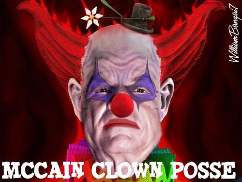 McCAIN CLOWN POSSE by WilliamBanzai7/Colonel Flick