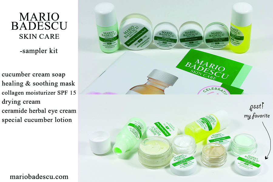 Picture of six samples from Mario Badescu