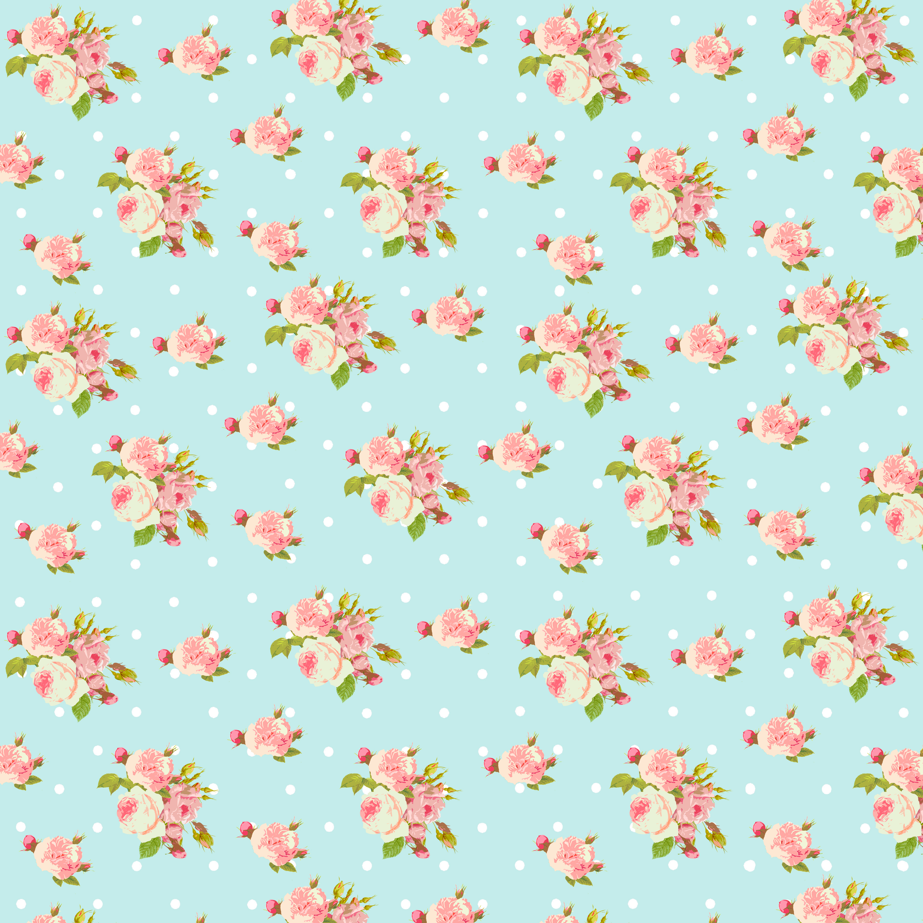 Shabby Chic Papers Small Roses Blue Flickr Photo
