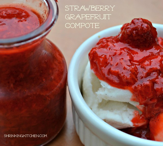 strawberry grapefruit compote