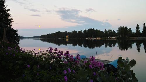 sunset sky moon day summertime oulu foveon rosemoon oulujoki supermoon sigma1770mmf2840dcmacrooshsm sigmasd1merrill pwpartlycloudy