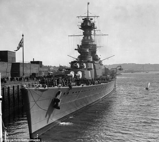 The British battle cruiser HMS Hood