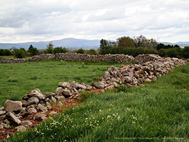 Earth and stone banks at Rathgall Hillfort, Wicklow, Ireland