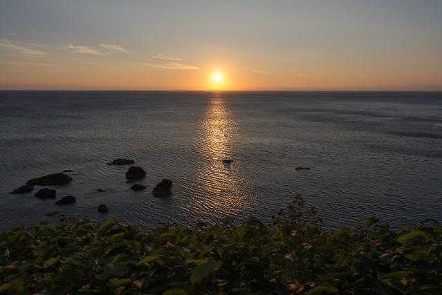 礼文島 桃岩荘からの夕陽