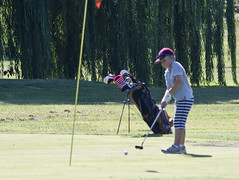 hold your breath for the chip shot - East Potomac Golf Course - 2013-08-25