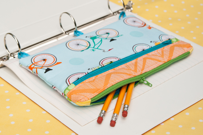 three ring binder pencil case sewing tutorial the cottage mama
