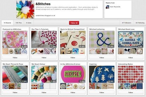 &Stitches on Pinterest!