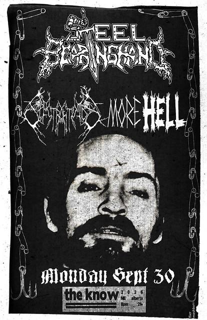 9/30/13 SteelBaringHand/Satanarchist/MoreHell