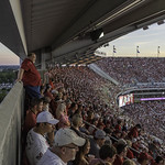 As Dusk Settles Tide Fans Watch The Tide Shut Out Ole Miss At Bryant Denny Stadium Ole Miss Game Day 2013
