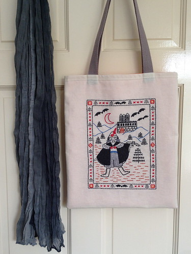 Dracula Pattern - made into a tote!