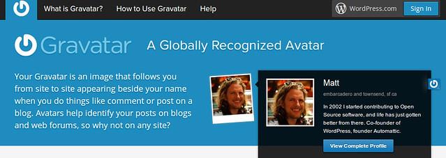 Gravatar website for PHP code for Author Widget in WordPress by Anil Kumar Panigrahi