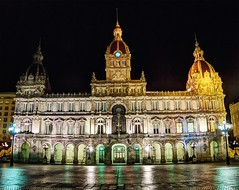 Ayuntamiento a la noche - City Hall at night