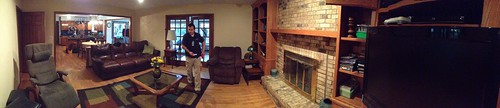 Panorama of New House from Family Room