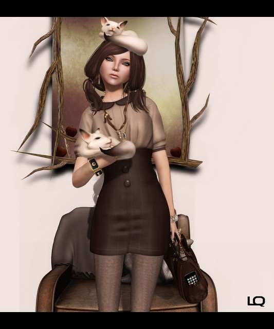 Last Day for Oct C88 The Secret Store - Jezibell Dress - Mocha & Belleza Nina