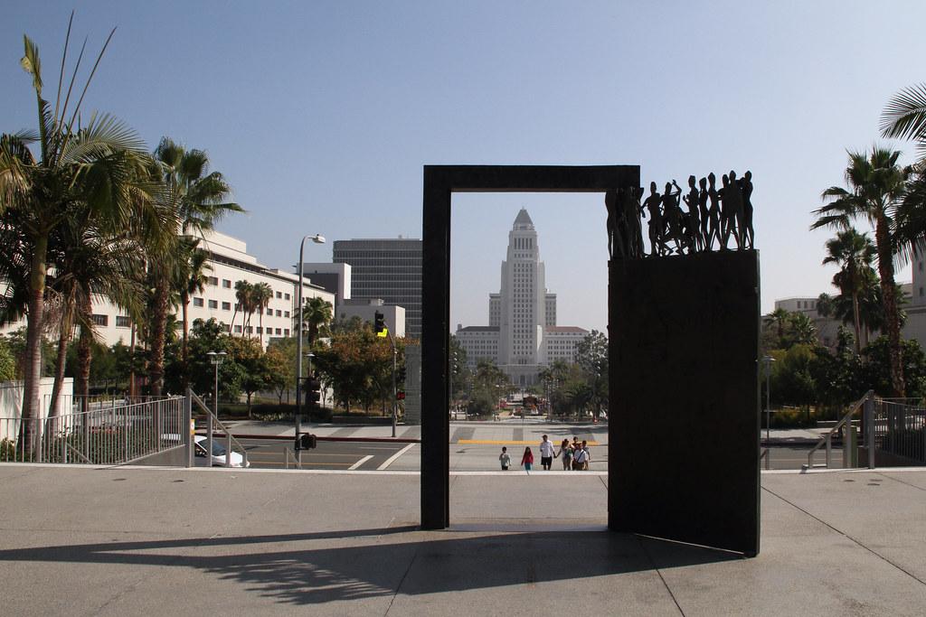 Open door on public square