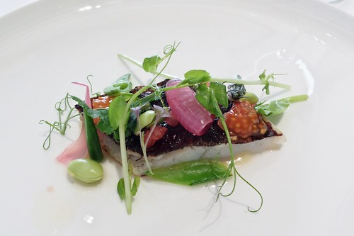 Tetsuya's: Shio Koji Flounder with Tomato & Summer Greens