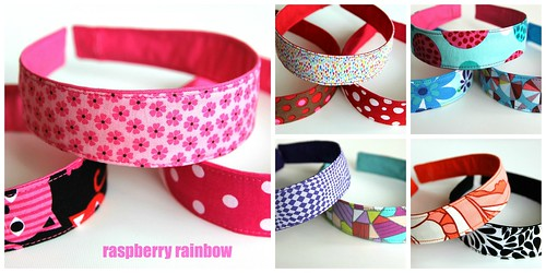 Fabric headband covers