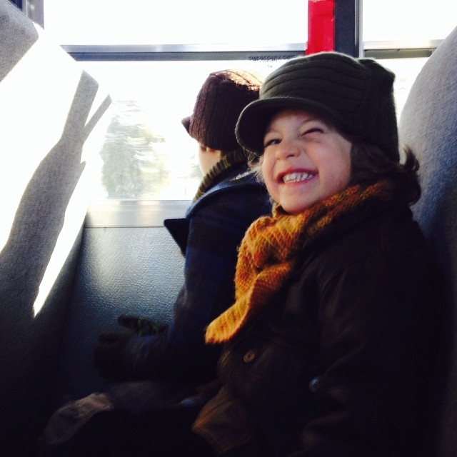 happiest bus rider evah #hekeptsmilinglikethisateveryone