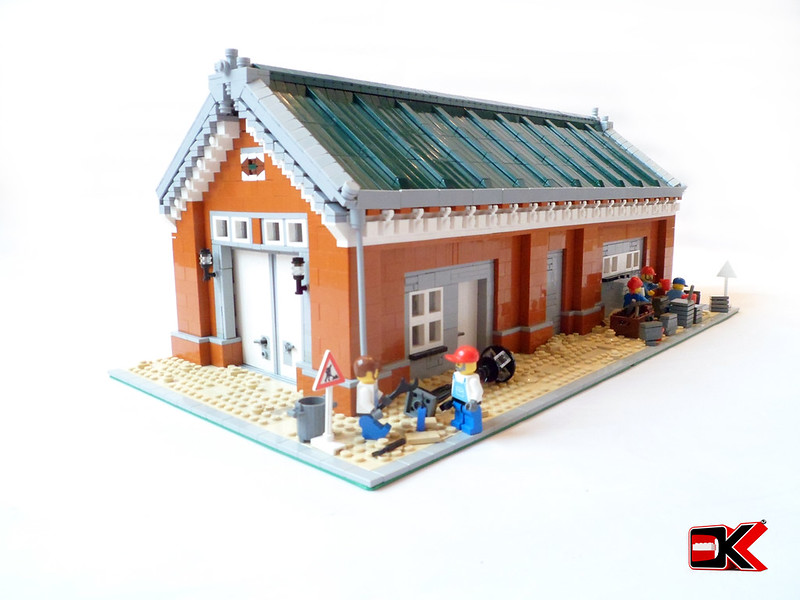 MOC: Renovated modular warehouse - LEGO Town - Eurobricks Forums