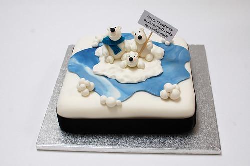 Polar Bear Christmas Cake Large Beautiful Birthday Cakes