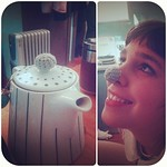 Teapot handle-helper? Or nose warmer? Modeled by @camimari