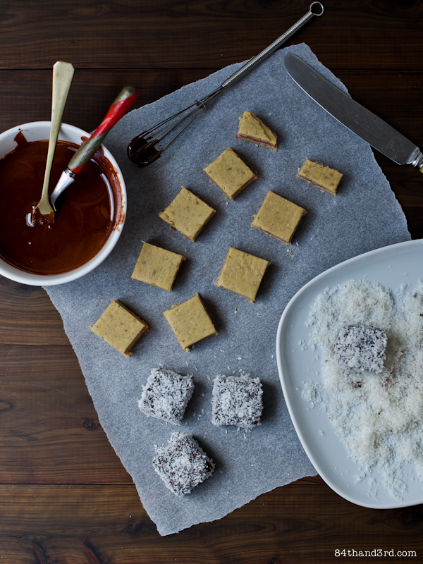 Lamington Fudge Bites - Vegan and Soy-Free