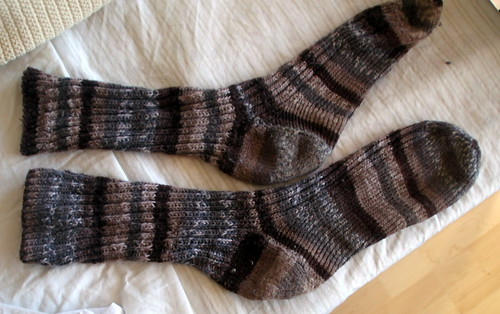 the very first socks i ever knit.