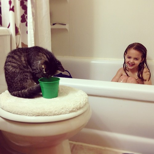 Best Friends Forever. They even hang out at bath time.