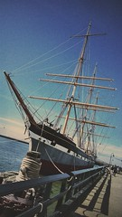 sailboat, sailing ship, schooner, vehicle, ship, sea, windjammer, full-rigged ship, mast, tall ship, watercraft, boat, galleon, barque,