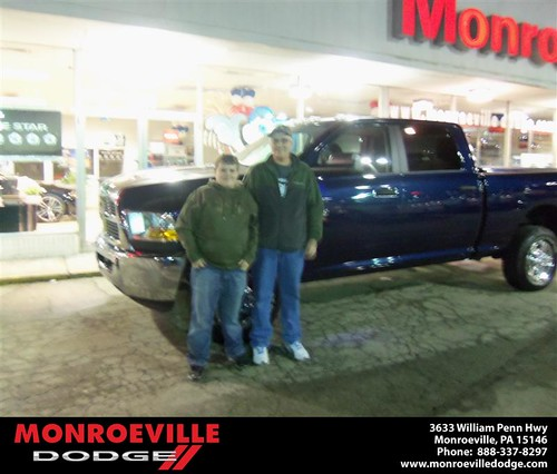 Happy Anniversary to Marty G Goss on your 2012 #Dodge #Ram from Ronald Mcclelland  and everyone at Monroeville Dodge! #Anniversary by Monroeville Dodge