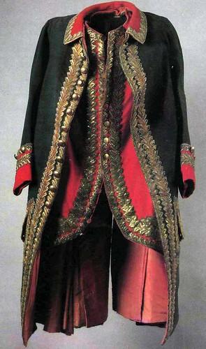 Мундир и камзол генерал-поручика. 1764