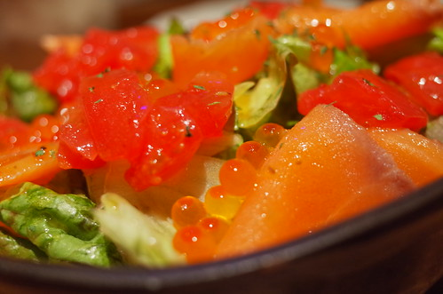 salmon & roe salad
