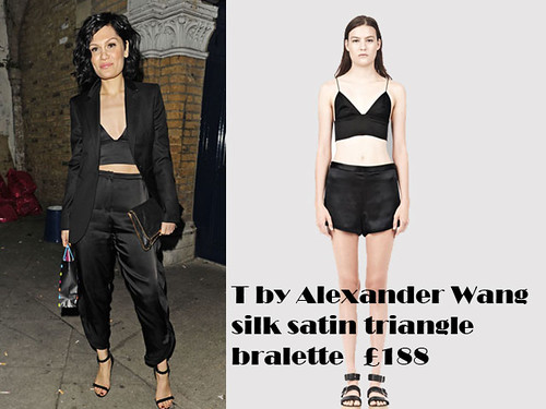 Lingerie-inspired trend: T by Alexander Wang silk satin triangle bralette