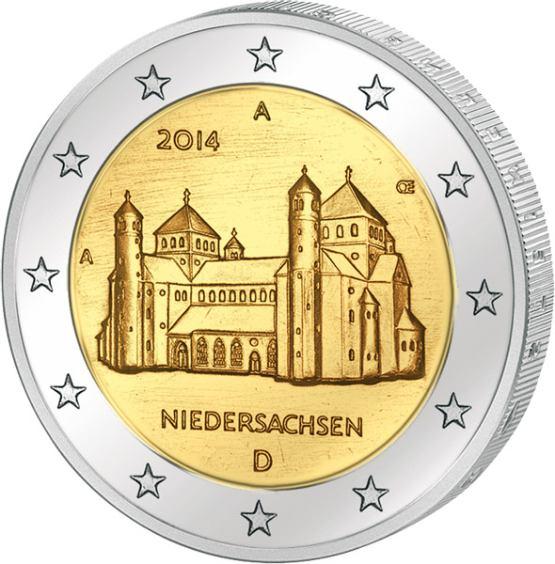 2 Euro Nemecko 2014 A, Niedersachsen