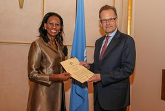 NEW PERMANENT REPRESENTATIVE OF SWAZILAND PRESENTS CREDENTIALS
