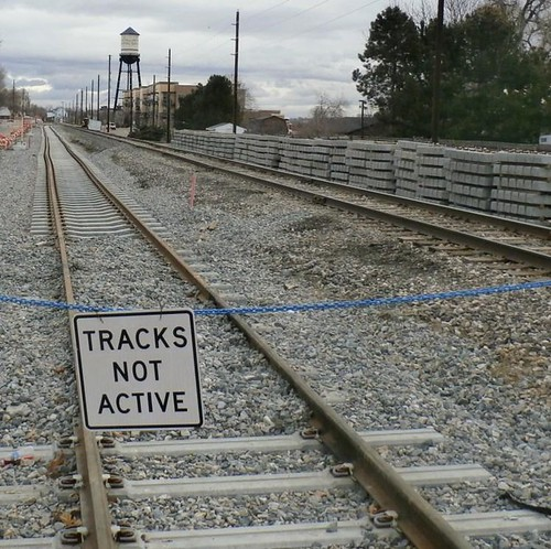 Photo of completed track at Balsam Street in Arvada