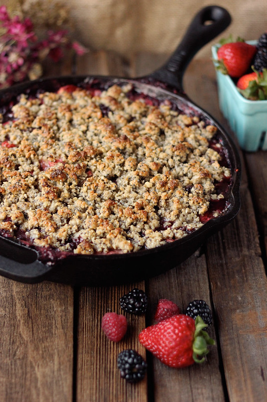 Grain-free Mixed Berry Crisp (Vegan)