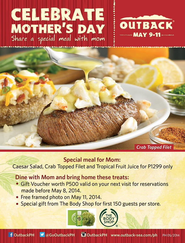 Outback Steakhouse Mothers Day Promo