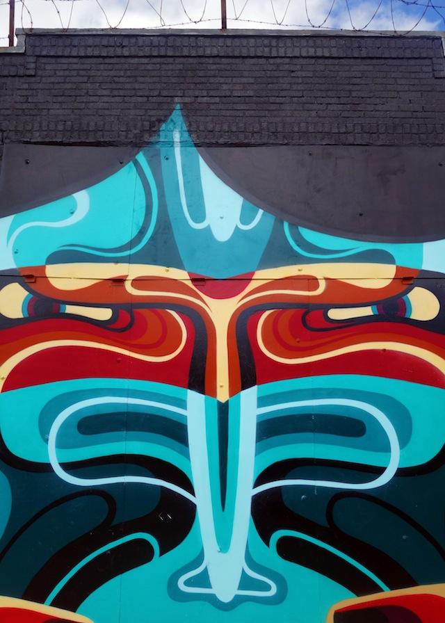 Brooklyn street art The Bushwick Collective gorilla closeup