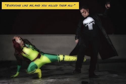 Rogue vs The Punisher shoot 14141068453_cf3707b46c
