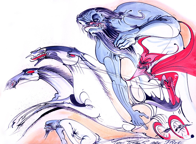 Gerald Scarfe - Hercules Conceptual Paintings 10