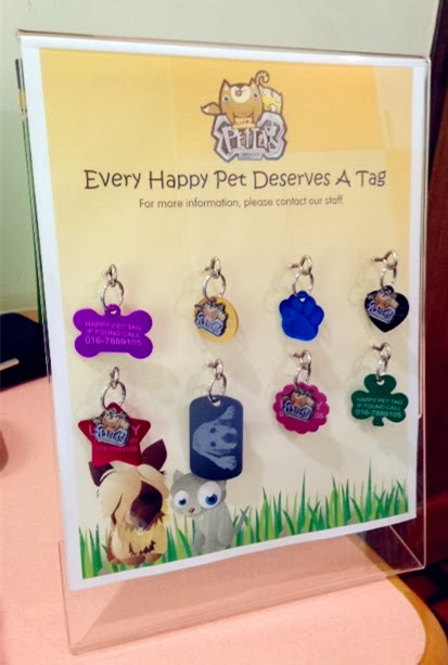 Happy Pet Tag acrylic samples board