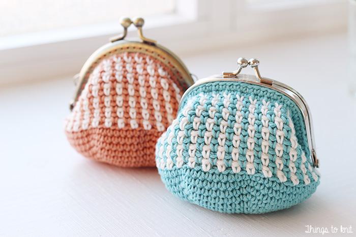 Monederos de crochet » Things to Knit